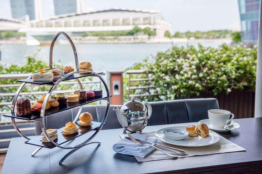 English Afternoon Tea at The Landing Point at The Fullerton Bay Hotel Singapore.