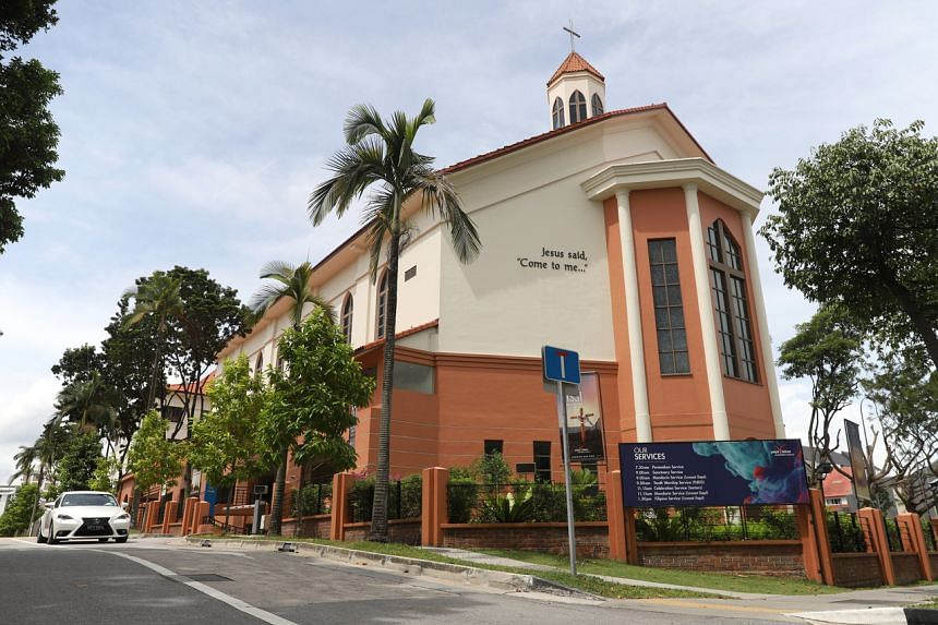 The Paya Lebar Methodist Church in a photo taken on Feb 10, 2020. All worship services at Methodist churches in Singapore will be suspended for two weeks till April 4.