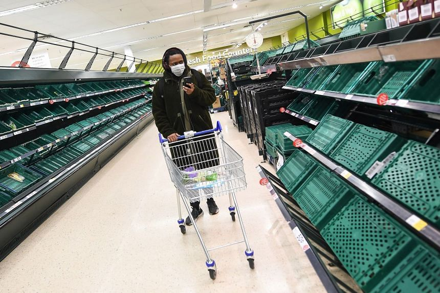Britain tells shoppers there is enough food