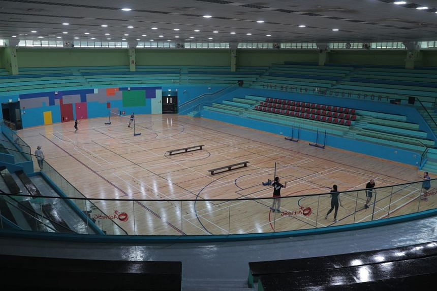 Shuttlers were not allowed to play on adjacent courts at the ActiveSG sports hall in Toa Payoh on March 21, 2020.