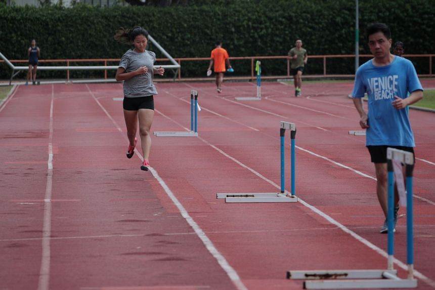 Lane segregation on Toa Payoh Stadium's athletics track means fewer people can use it at any time.