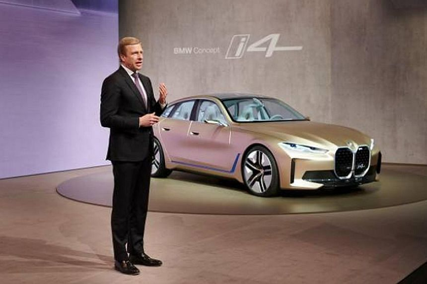 BMW chairman Oliver Zipse unveiled the new electric i4 concept on Wednesday.