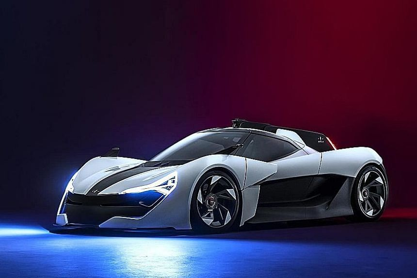 Apex AP-0 electric concept is fast and light.
