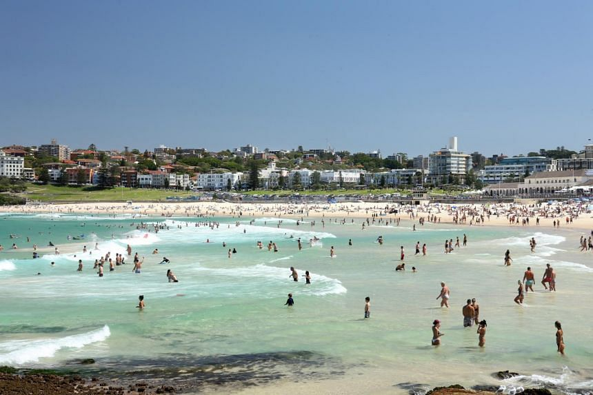 Beachgoers continued to throng Bondi Beach despite the ongoing coronavirus crisis in Sydney on March 20, 2020.