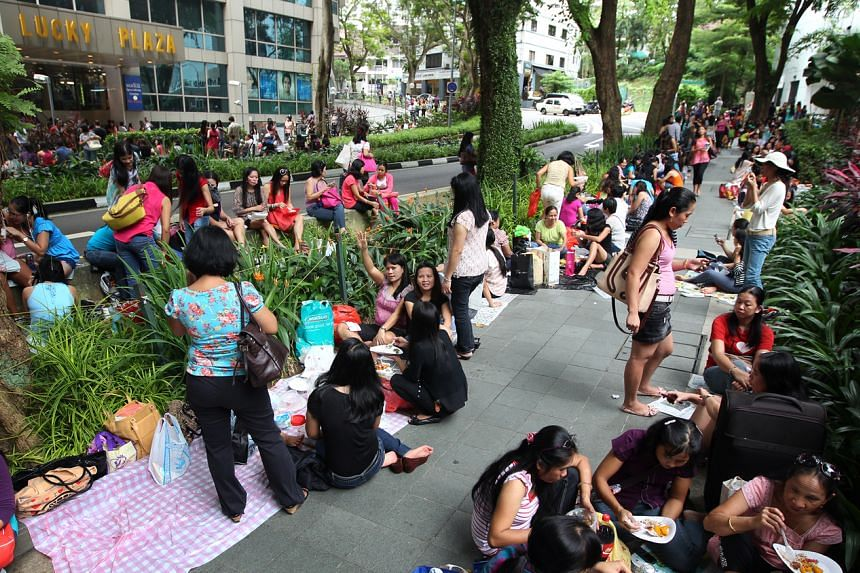 If the foreign domestic workers still choose to spend their rest day outside, they should avoid gathering in large groups or minimise time spent at places such as Lucky Plaza, City Plaza and Peninsula Plaza, the Ministry of Manpower said.