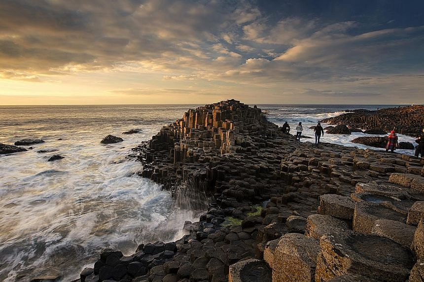 Giant's Causeway in Northern Ireland has a stark beauty, compounded by rock basalt columns rising out of the water's edge. Formed from volcanic eruptions millions of years ago, they look out of this world.
