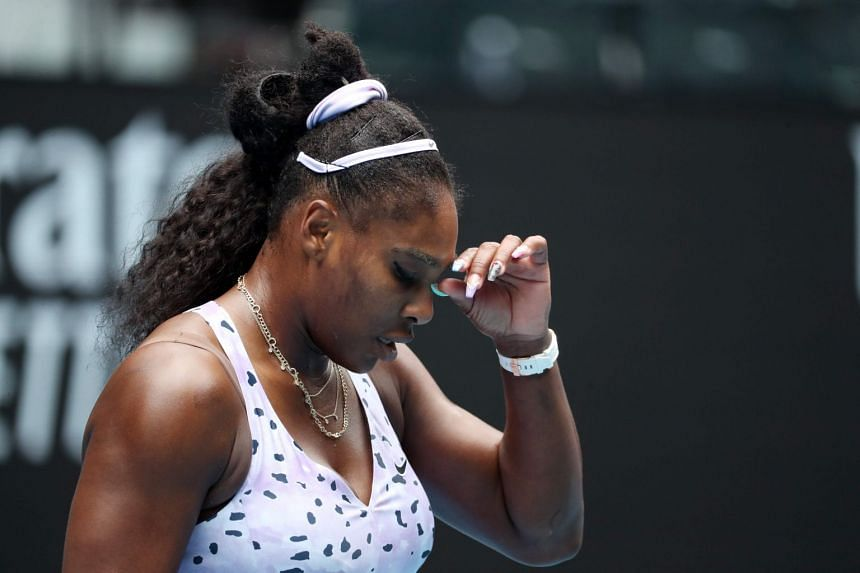 Serena Williams in action during the Australian Open in January 2020.