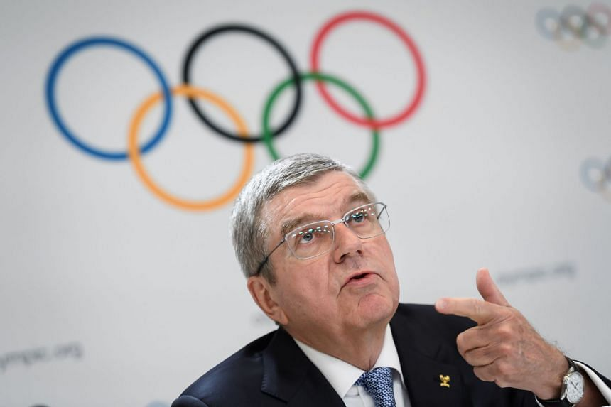 International Olympic Committee president Thomas Bach attends a press conference in January 2020.