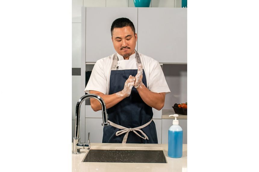 Sun Kim of Meta is one of nine chefs roped in by At-Sunrice GlobalChef Academy to film 12 videos in six languages to demonstrate the proper washing of hands and handling of food.