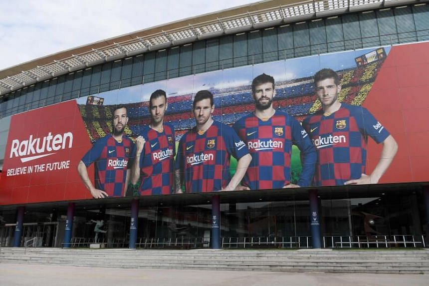The Camp Nou stadium in Barcelona. All organised football in Spain had been postponed for two weeks due to the spread of the coronavirus but was initially due to resume on April 3, 2020.