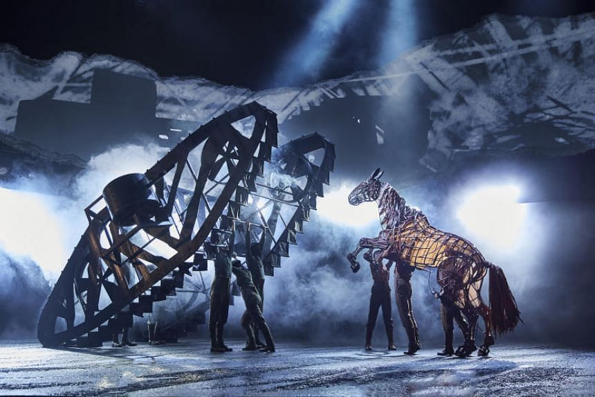 A scene from The National Theatre's production of War Horse. War Horse, which was to have been staged at the Esplanade from April 24 to May 10, has been cancelled.