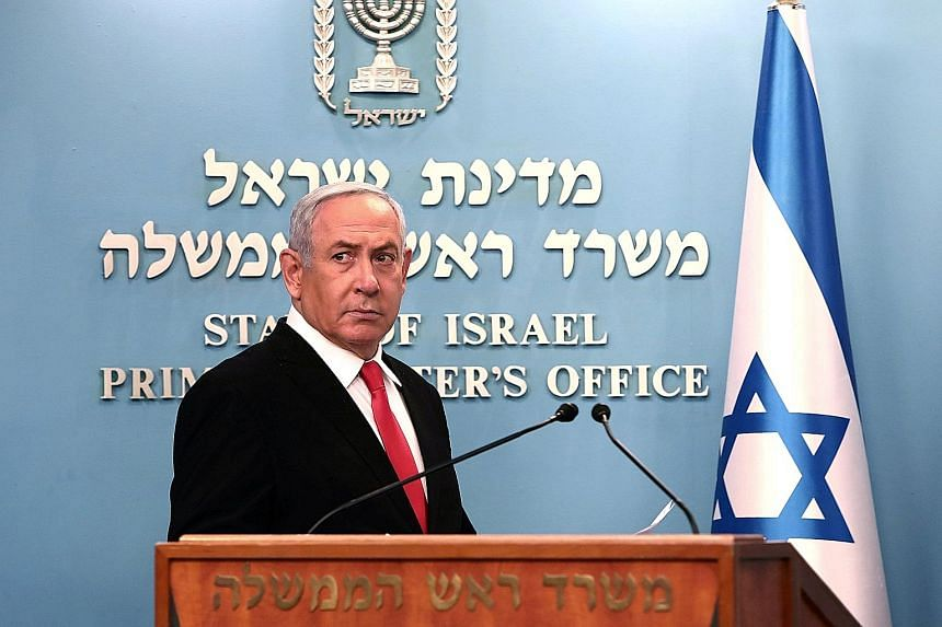 Israeli Prime Minister Benjamin Netanyahu announcing new measures to fight the coronavirus pandemic earlier this month. He has resorted to emergency regulations to usher in increasingly draconian steps such as using cellphone data to track citizens.