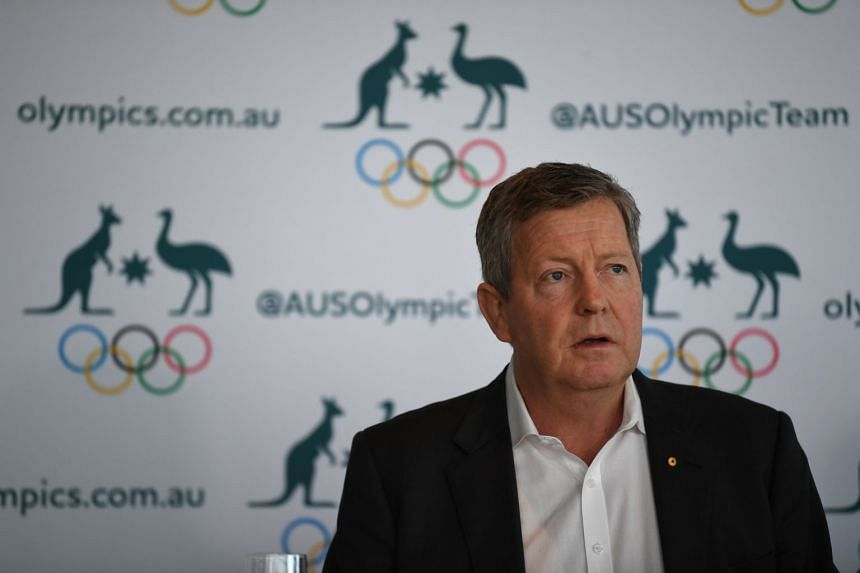 Australian Olympic Committee Chief Executive Matt Carroll addresses the media during a press conference in Sydney, on March 19, 2020.
