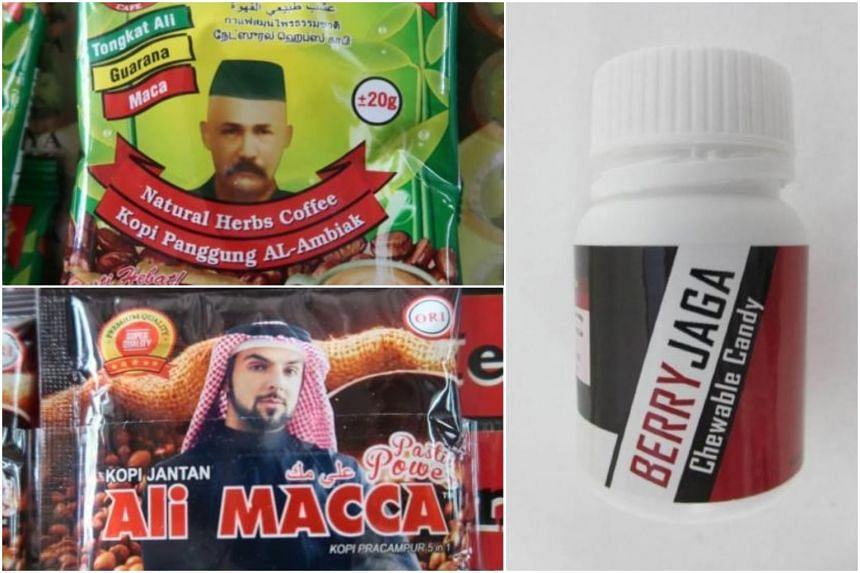 Kopi Panggung Al-Ambiak natural herbs coffee, Kopi Jantan Ali Macca and Berry Jaga chewable candy were found to contain high levels of potent medicinal ingredients used for treating erectile dysfunction.