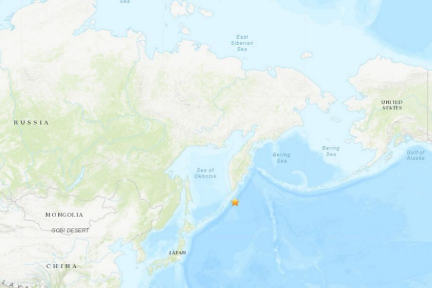 Magnitude 7.5 quake strikes off Russian far eastern coast