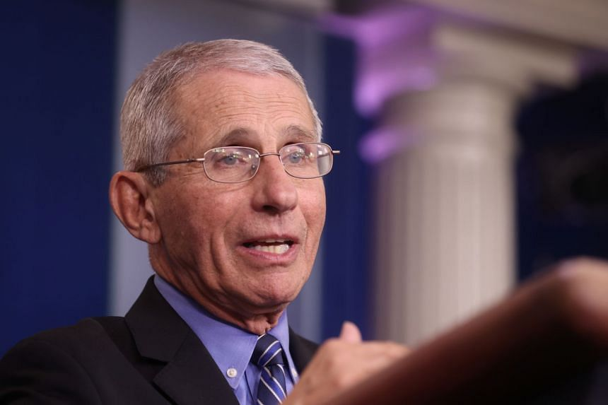 Director of the National Institute of Allergy and Infectious Diseases Anthony Fauci addresses the coronavirus task force daily briefing at the White House in Washington, on March 24, 2020.