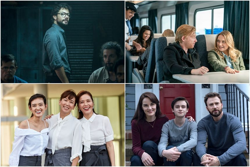 (From top left, clockwise) Money Heist, Run, Defending Jacob and My Guardian Angels are some of the 10 TV shows to catch in April 2020.