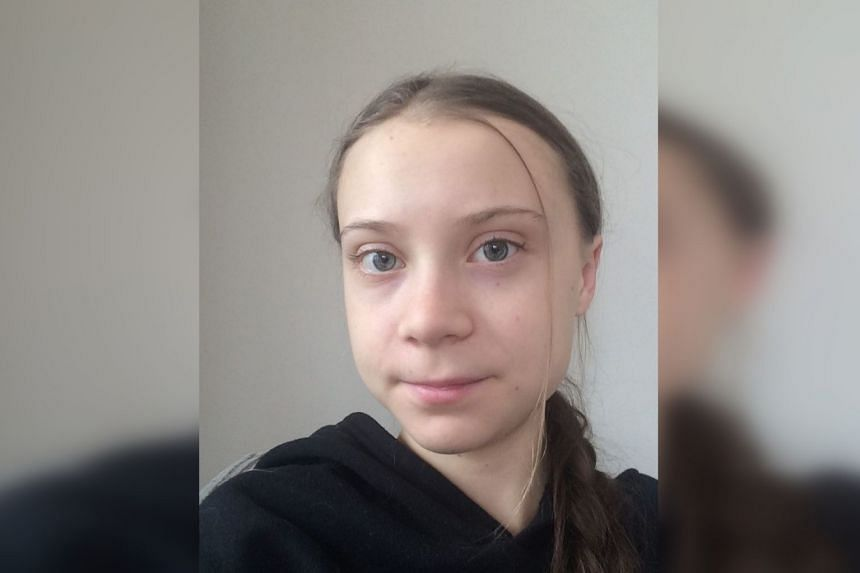 Thunberg posted a photo of herself (above) with her Instagram message.