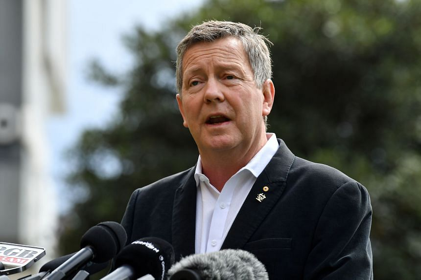 Australian Olympic Committee chief executive Matt Carroll speaks at a press conferenc, on March 25, 2020, the morning after the historic decision to postpone the 2020 Tokyo Olympic Games.