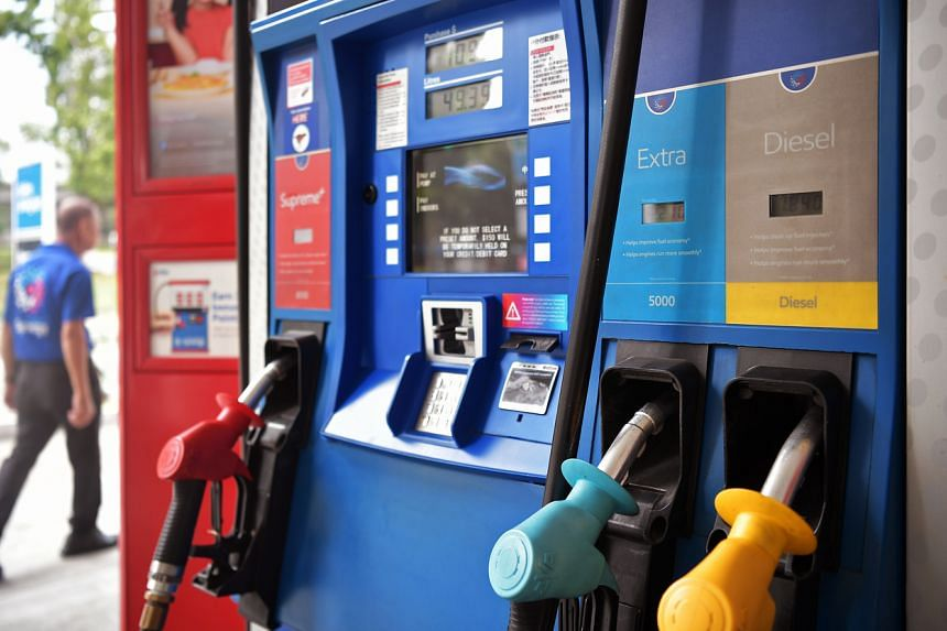 Senior Parliamentary Secretary for Trade and Industry Tan Wu Meng said that retail petrol prices here have fallen with the steep decline in crude oil prices earlier this year.