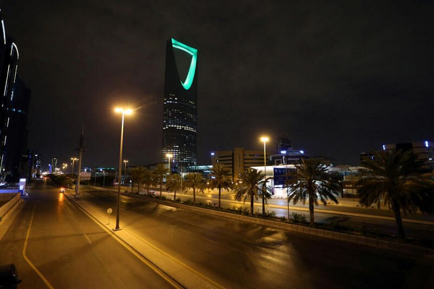 A view of an empty street after a curfew was imposed to prevent the spread of the coronavirus in Riyadh, Saudi Arabia, on March 24, 2020.