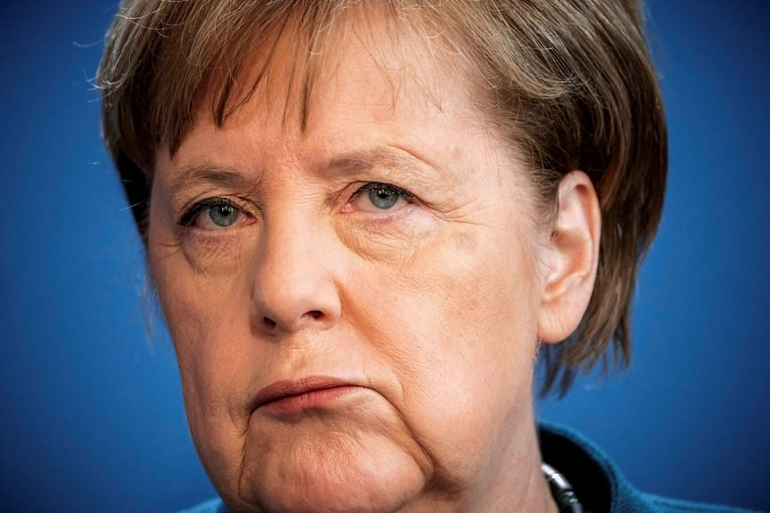 Merkel (above) has been working from home after receiving a vaccination from a doctor who was later found to have the virus.