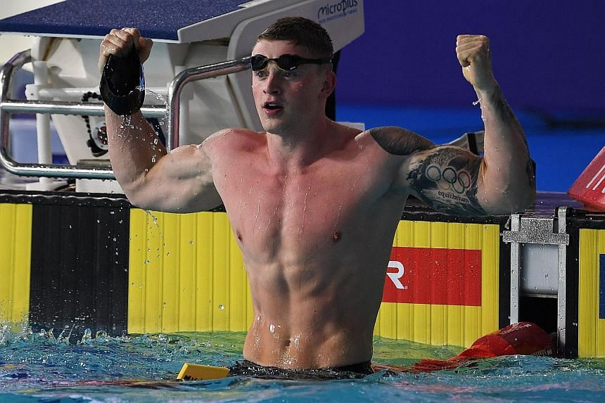 Olympic champion Adam Peaty (25, above) is in his prime while American Ryan Lochte, 35, may have to prolong his career to get another shot at the Olympics next year. PHOTO: AGENCE FRANCE-PRESSE