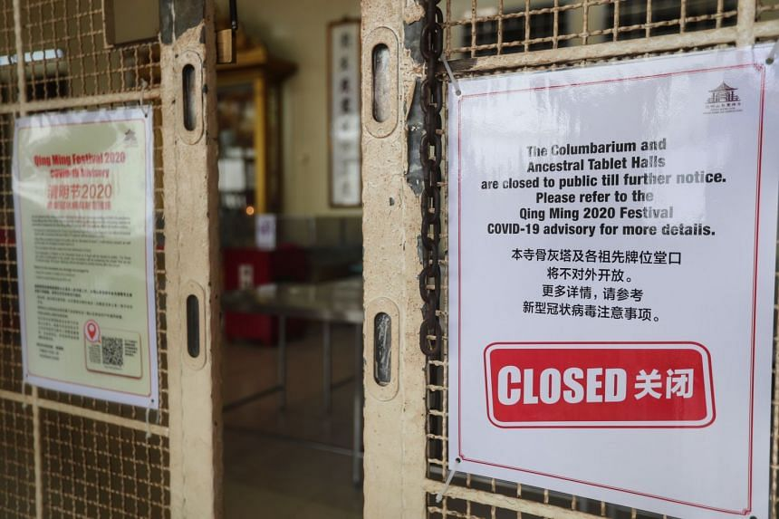 Visitors could also be temporarily stopped from going into the columbaria buildings if the National Environment Agency decides there is a need for crowd control.
