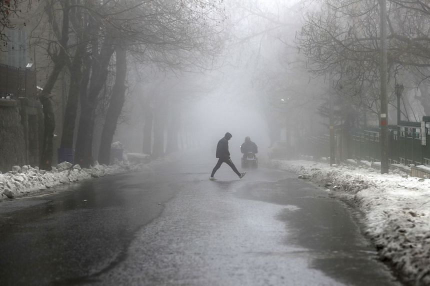 A photo taken on Jan 12, 2020 shows fog at Mount Lebanon in the resort village of Sawfar, east of Beirut. Meteorologists have seen a steep decline in more than 700,000 daily weather observations from aircraft.