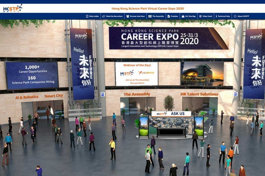 Participate in the Hong Kong Science Park Virtual Career Expo 2020.