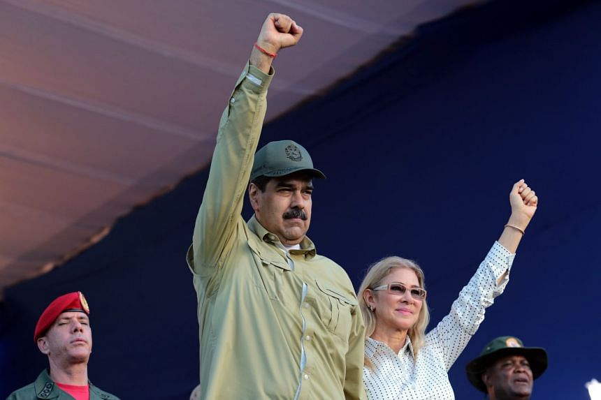Maduro and his wife, Cilia Flores, in La Guaira, Venezuela, on Dec 8, 2019.