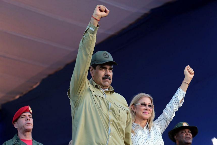 Maduro and his wife, Cilia Flores, in La Guaira, Venezuela, on Dec 8, 2019.