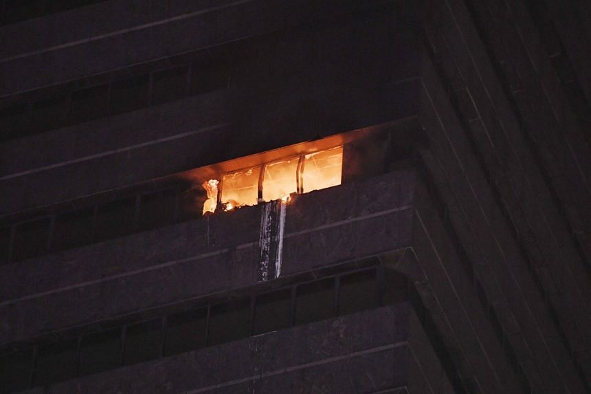 A fire broke out at the 18th storey of Liat Towers in Orchard Road on March 25, 2020.