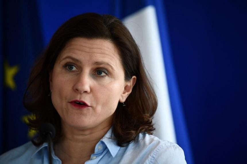 French Sports Minister Roxana Maracineanu speaks during a press conference on epidemic Covid-19 caused by the novel coronavirus at the ministry in Paris, on March 9, 2020.