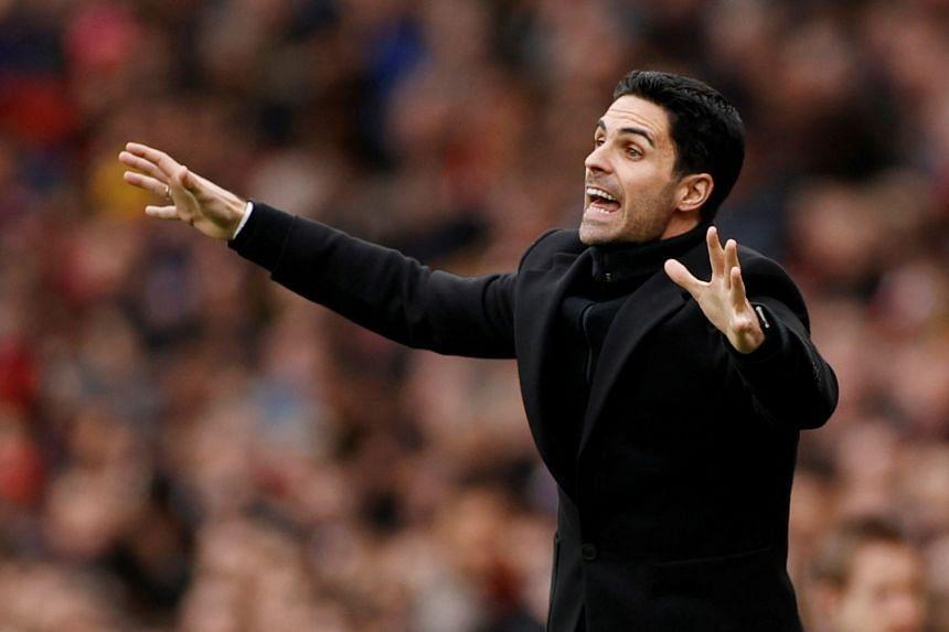 Arsenal announced Arteta's (above) positive test a fortnight ago on March 12, 2020.