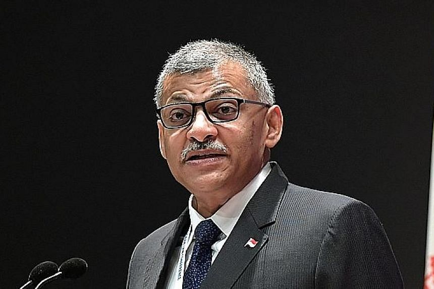 Above: Chief Justice Sundaresh Menon said that the Singapore judiciary has been actively monitoring the rapidly evolving coronavirus situation. Left: In order to minimise the number of people in the courtroom at any one time, hearings before judges a