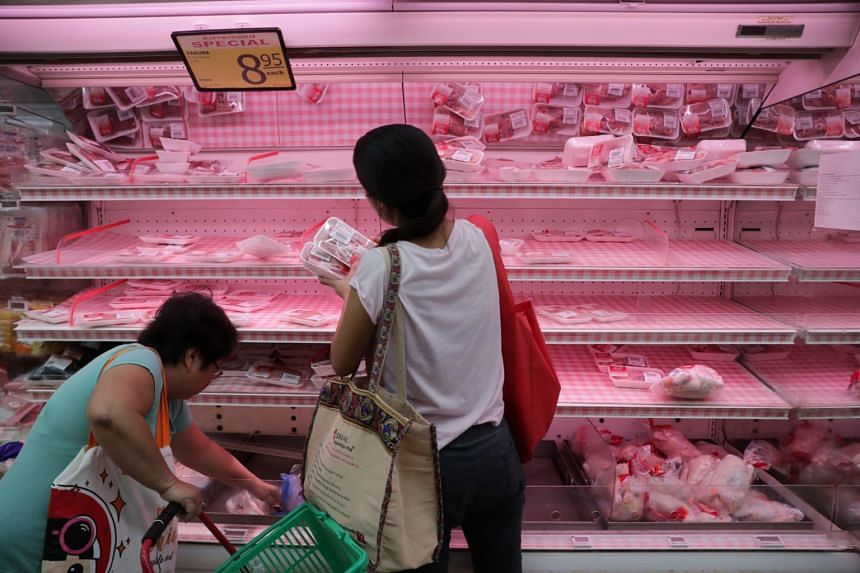 Shoppers can buy up to six cans of canned products, five litres of cooking oil and $30 of frozen poultry. Existing purchasing limits for instant noodles, rice, eggs, fresh poultry and vegetables remain unchanged.