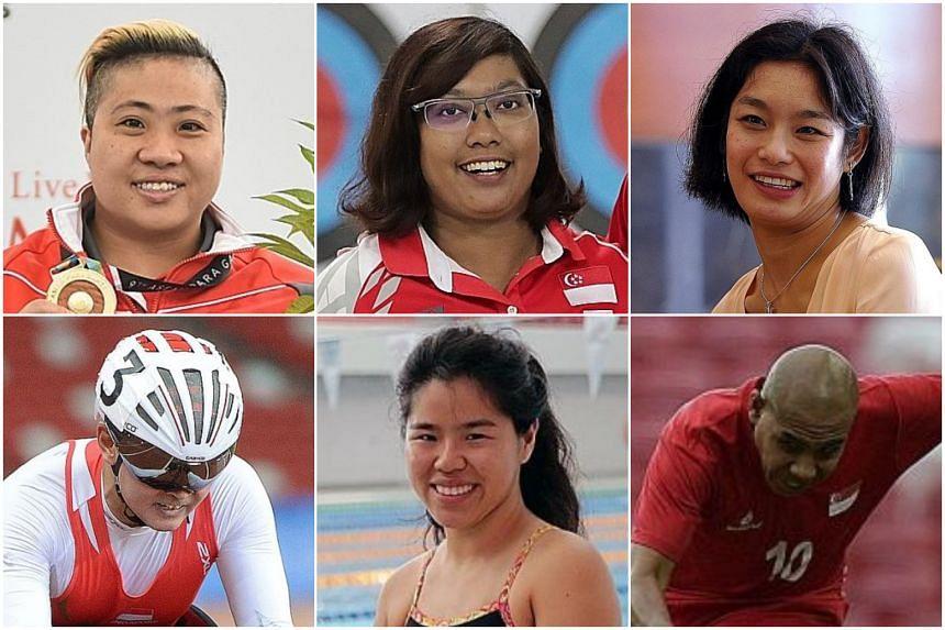 (Clockwise from top left) Theresa Goh, Nur Syahidah Alim, Laurentia Tan, Khairul Anwar, Yip Pin Xiu and Dr William Tan.
