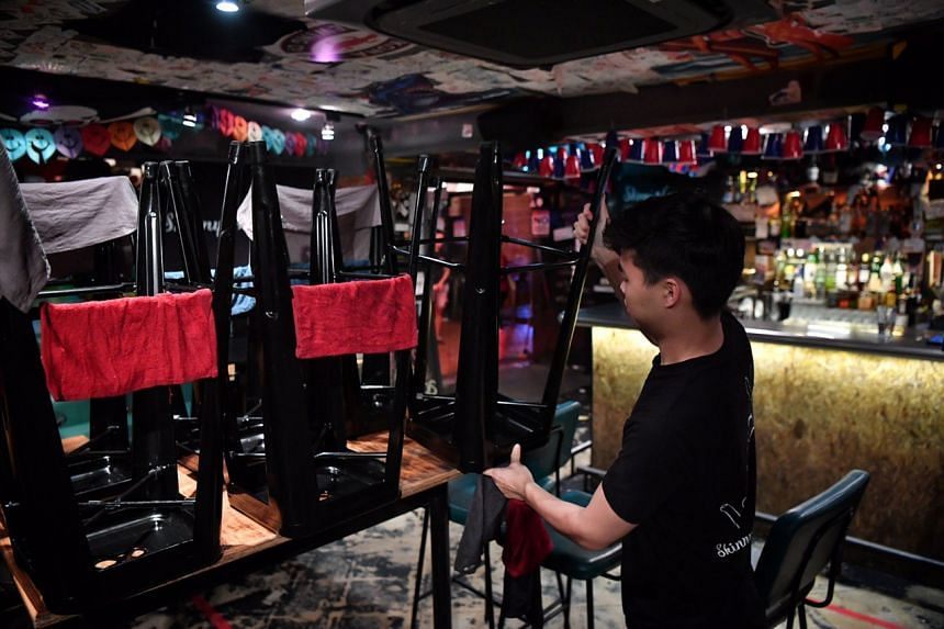 Staff at Skinny's Lounge started cleaning up and getting ready to shut down at about 1130pm on March 26, 2020.