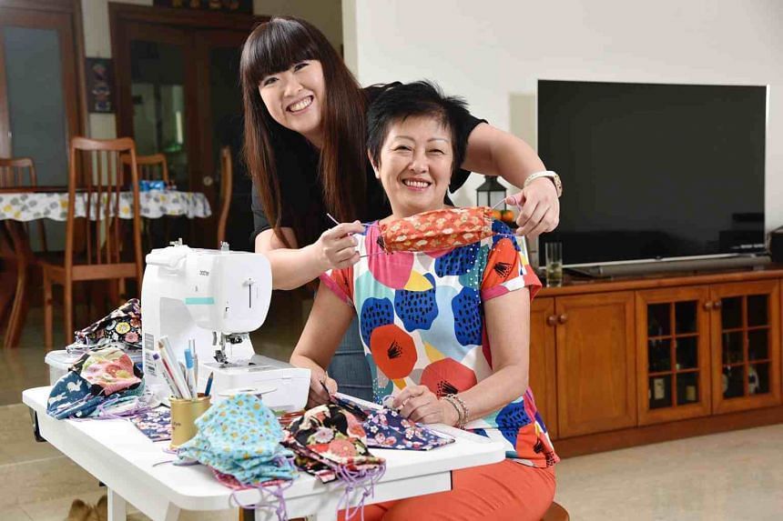 ST's Hedy Khoo with her mother Madam Sheila Khoo at their home on March 25, 2020.