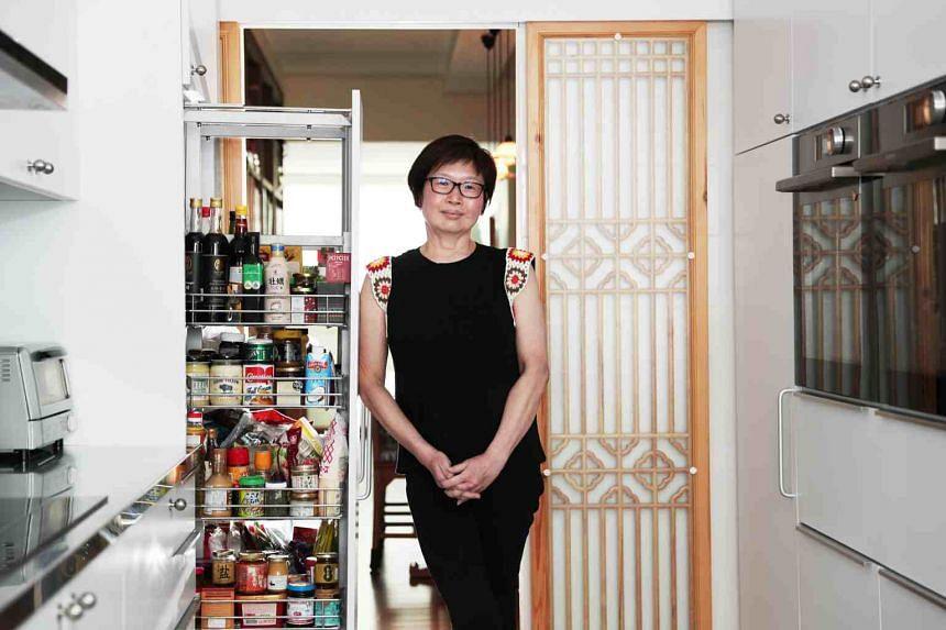 ST's Tan Hsueh Yun in her kitchen.