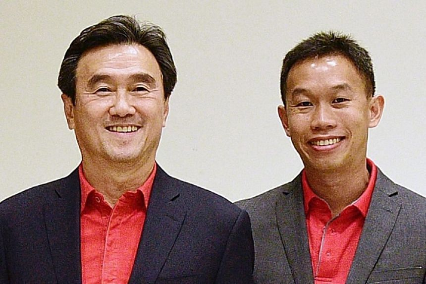 Singapore Athletic president Tang Weng Fei (left) and vice-president (finance & partnerships) Poh Seng Song.