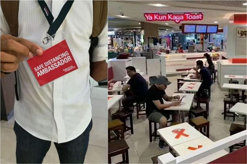 One of the claims on social media was put up by a user who said she witnessed a customer at Ya Kun Kaya Toast in Compass One being fined $300 by a safe distancing ambassador.