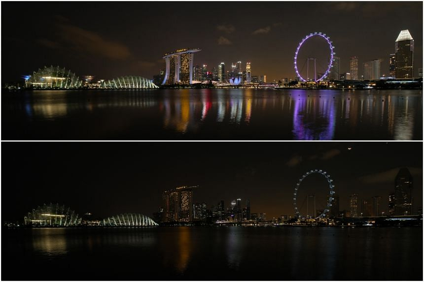 Over 150 landmarks and buildings, including businesses, hotels, malls, and attractions, turned off their lights for an hour at 8.30pm to mark Earth Hour.