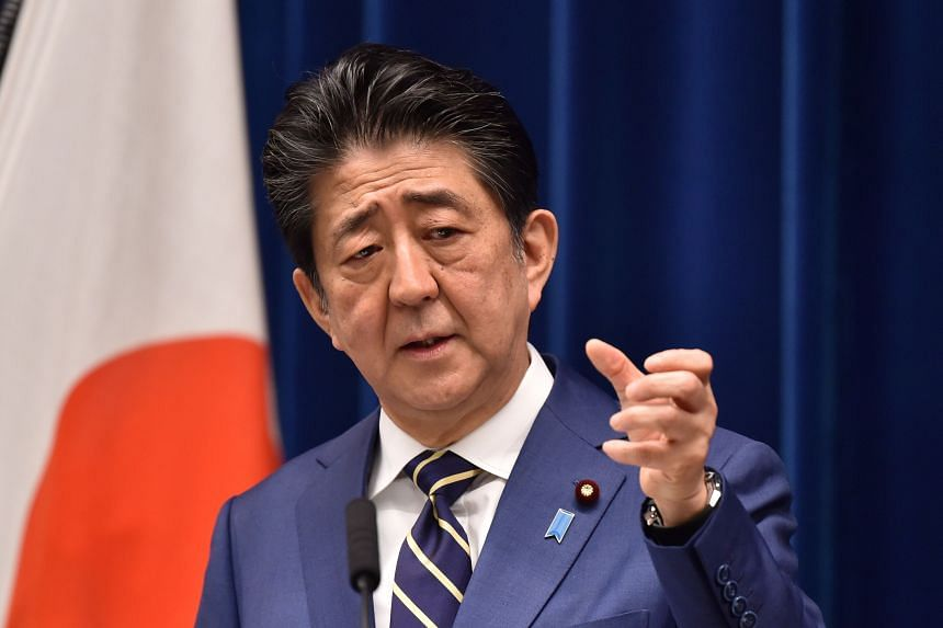 Japanese PM Shinzo Abe said that a massive unprecedented package will be crafted by the government in 10 days, during a news conference in Tokyo on March 28, 2020.