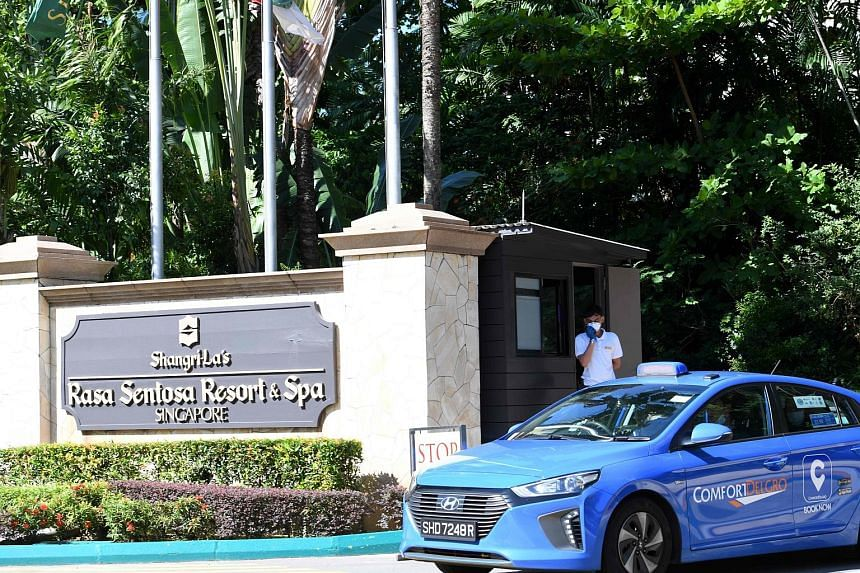 Shangri-La's Rasa Sentosa Resort & Spa is one of the hotels designated as a dedicated facility for guests serving their stay-home notice. The hotel is equipped with closed-circuit camera monitoring and a 24-hour, on-site emergency response team. PHOT