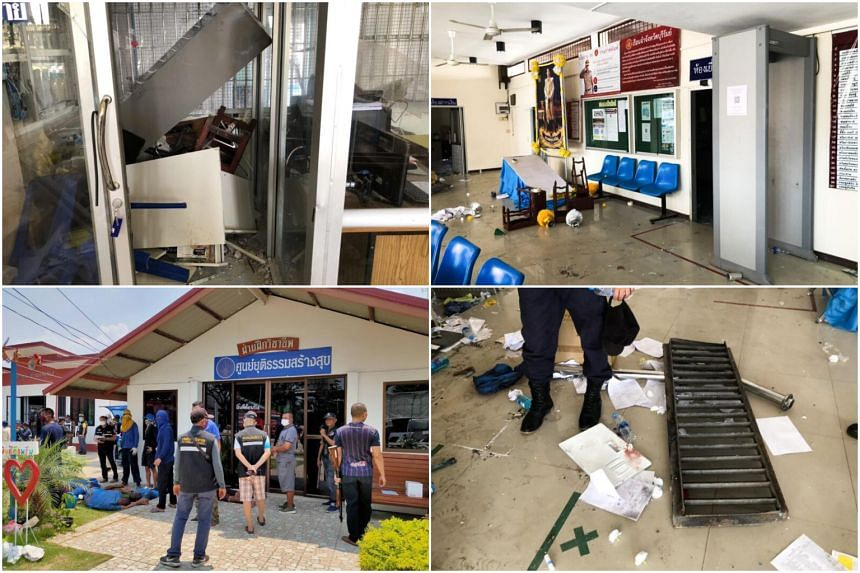 Prisoners broke furniture and smashed windows during the riot at Buriram prison in north-east Thailand on March 29, 2020. Some convicts escaped and seven have been arrested.