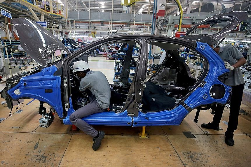 A Tata Motors plant in India. Car sales in the country fell for a 16th consecutive month in February, and that is set to continue as the coronavirus pandemic limits travel nationwide, and financing new vehicles becomes hard.
