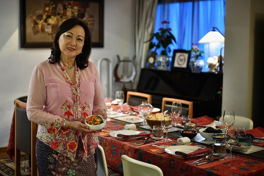 Former Singapore Symphony Orchestra violinist Lynnette Seah (above) serves Peranakan and Western meals in her flat in Tiong Bahru as part of her private-dining service.