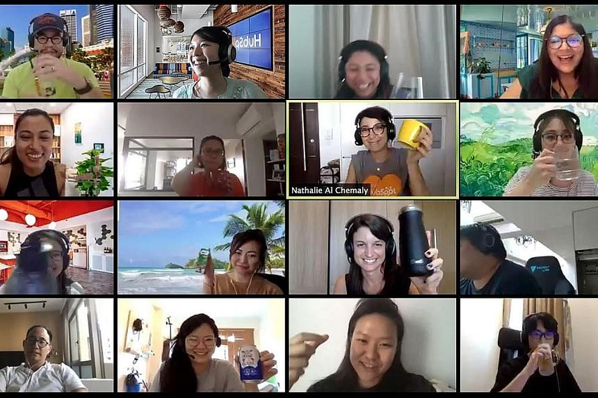 HubSpot staff can opt to have a tipple or two at 6pm on weekdays with colleagues virtually.